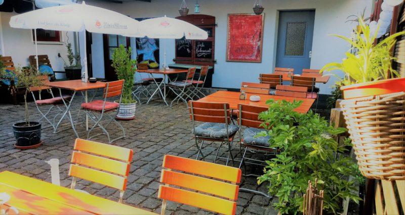 Hofterrasse Kunstcafé am Hexenturm